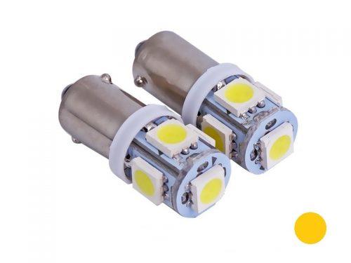 BA9S LED lampen ambergeel / oranje voor 24 volt gebruik - T4W LED lamp oranje