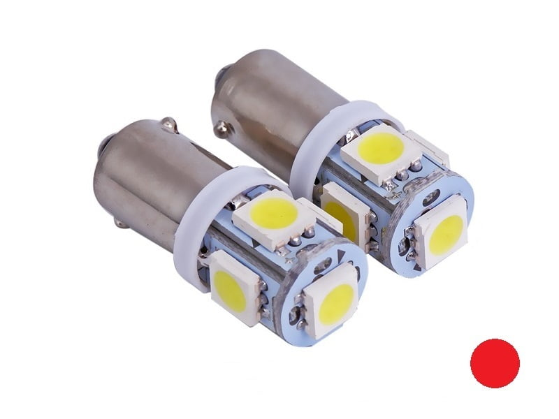BA9S LED lamps red for 24 volt use - T4W LED lamp red
