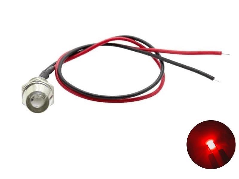 LED inbouw spot rood 12 volt - 24 volt - interieur verlichting - Truckstyling artikel - EAN: 6090545862823