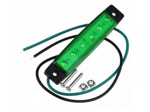 6 LED markeringslamp groen - 24 volt