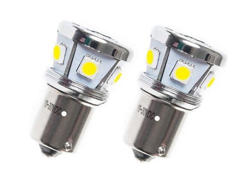 Ba15s LED lamp wit 12 volt - 24 volt voor vrachtwagen, bestelwagen, auto, trailer, aanhanger en meer - EAN: 6090450941996