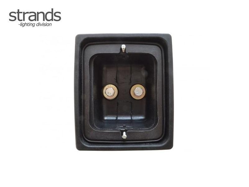 Strands rubber behuizing enkel voor LED bloklampen - IZE LED achterlichten - Deense achterbumper montage