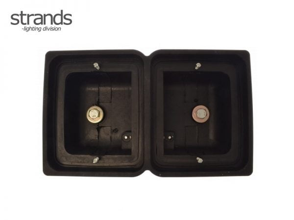 Strands rubber housing double for LED block lamps - IZE LED rear lights - Danish rear bumper mounting