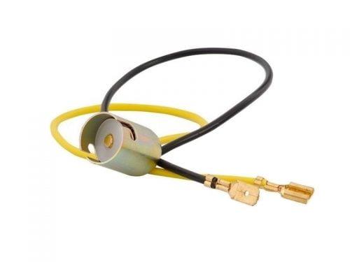 BA15S aluminium lampfitting per stuk - voor 12 en 24 volt gebruik