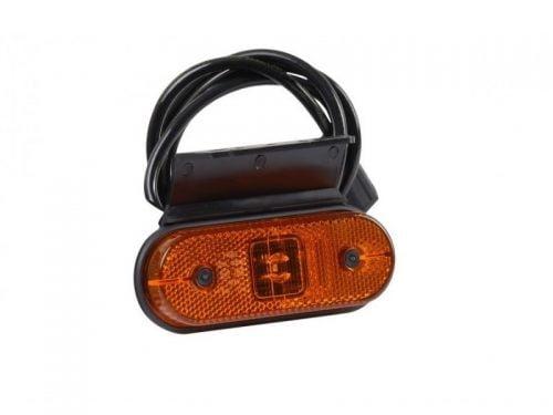 LED zijmarkeringslamp voor 12 en 24 volt met 1 meter kabel gemonteerd