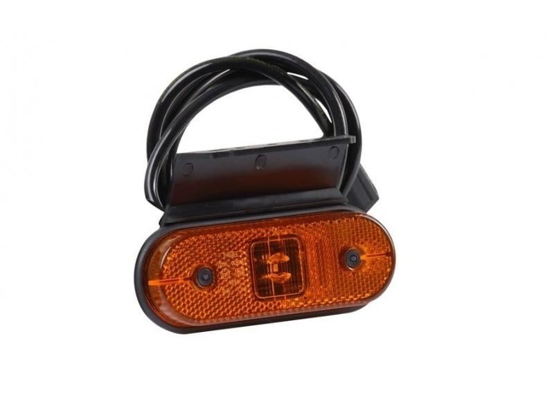 LED side marker lamp for 12 and 24 volts with 1 meter cable mounted
