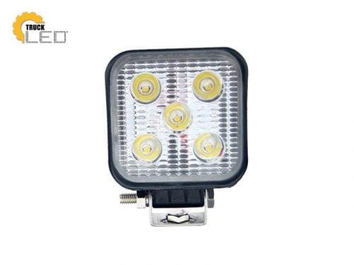 TruckLED LED werklamp vierkant 15W - geschikt voor 12&24 volt - met 30cm aansluitkabel - voor auto, vrachtwagen, aanhangwagen, camper, tractor en meer - EAN: 2000010040865