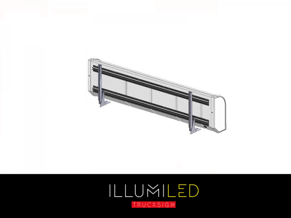 IllumiLED light box mounting for on top of lamp bracket