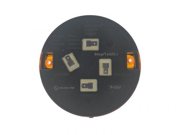 OBO LED Hamburger Rücklicht - Standlicht - Bremslicht - Blinklicht - Rund LED Rücklicht für 12 und 24 Volt - für Anhänger, LKW, Wohnmobil, Wohnwagen, Traktor und mehr