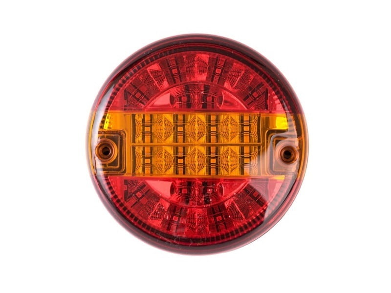 OBO LED hamburger achterlicht - stadslicht - remlicht - knipperlicht - rond LED achterlicht voor 12 en 24 volt - voor aanhanger, vrachtwagen, camper, caravan, tractor en meer