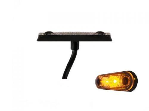 LA quick fit LED markeringslamp ORANJE - contourlamp vrachtwagen, aanhanger, camper, caravan en meer voor 12 volt & 24 volt