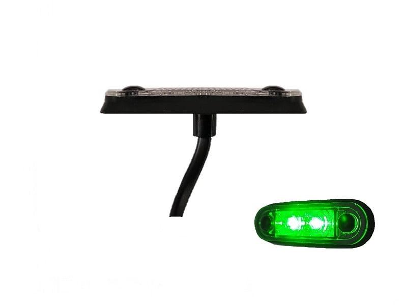 LA quick fit LED interieur lamp GROEN - interieur verlichting vrachtwagen, aanhanger, camper, caravan en meer - 12 volt & 24 volt