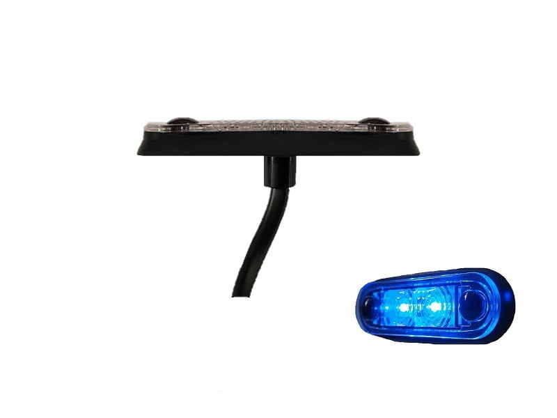LA quick fit LED interieur lamp BLAUW - interieur verlichting vrachtwagen, aanhanger, camper, caravan en meer - 12 volt & 24 volt