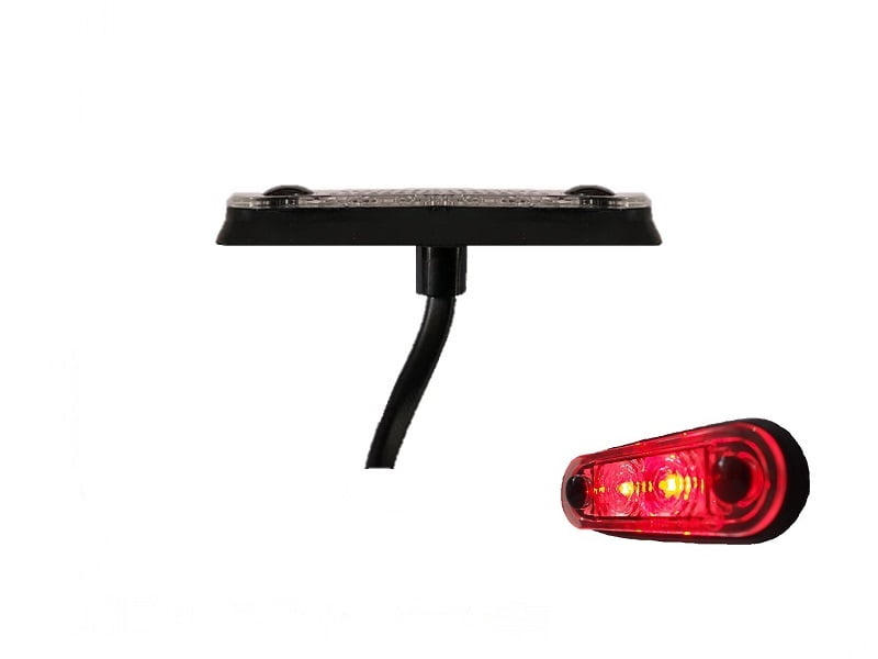 LA quick fit LED marker lamp RED - contour lamp truck, trailer, camper, caravan and more for 12 volts & 24 volts