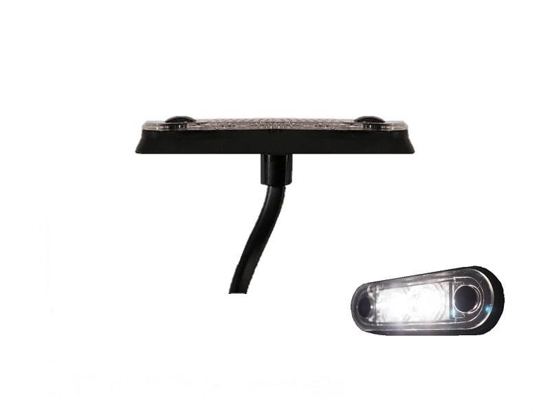 LA quick fit LED markeringslamp WIT - contourlamp vrachtwagen, aanhanger, camper, caravan en meer voor 12 volt & 24 volt