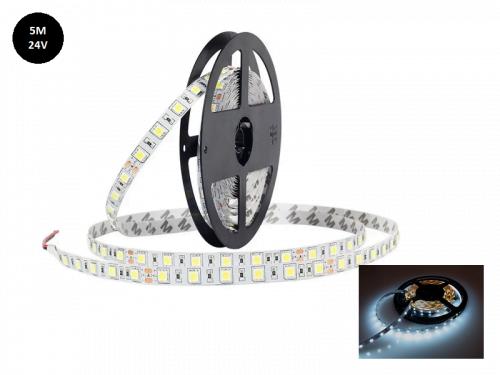 Vrachtwagen LED strip XENON WIT 6000K - LED strip voor 24 volt gebruik - zonder silicone laag - lengte 5 meter - EAN: 6090436552574