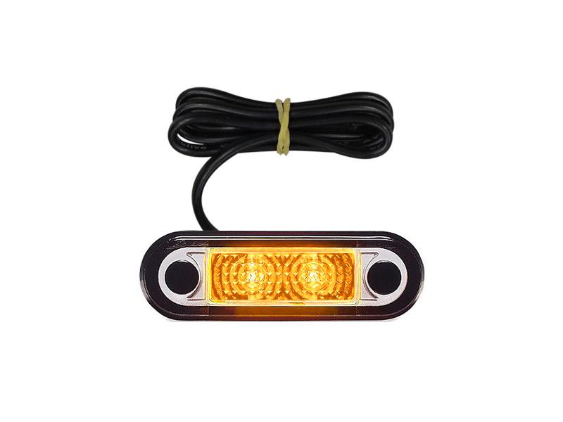 Hella LED markeringslamp ORANJE inbouw - voor 12 en 24 volt - Hella artikel: 2PF 959 590-307 - EAN: 9416325160663
