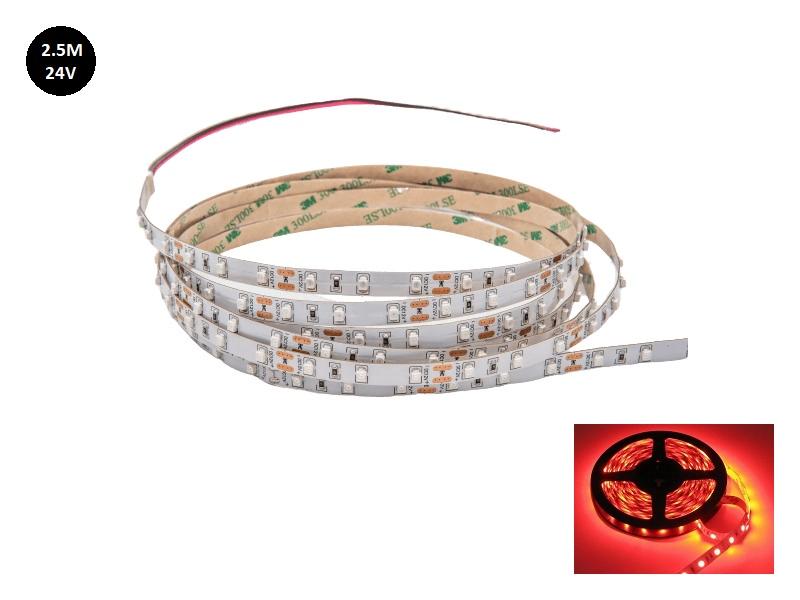 24 Volt LED strip rood 2.5 met silicone laag IP65 - EAN: 6090450388364