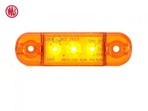 LED markeringslamp oranje 12 Volt - 24 Volt - vrachtwagen - bestelwagen - aanhanger - camper - caravan - landbouwvoertuig