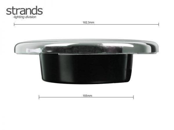 STRANDS LED rear light round - for 12 volt & 24 volt use