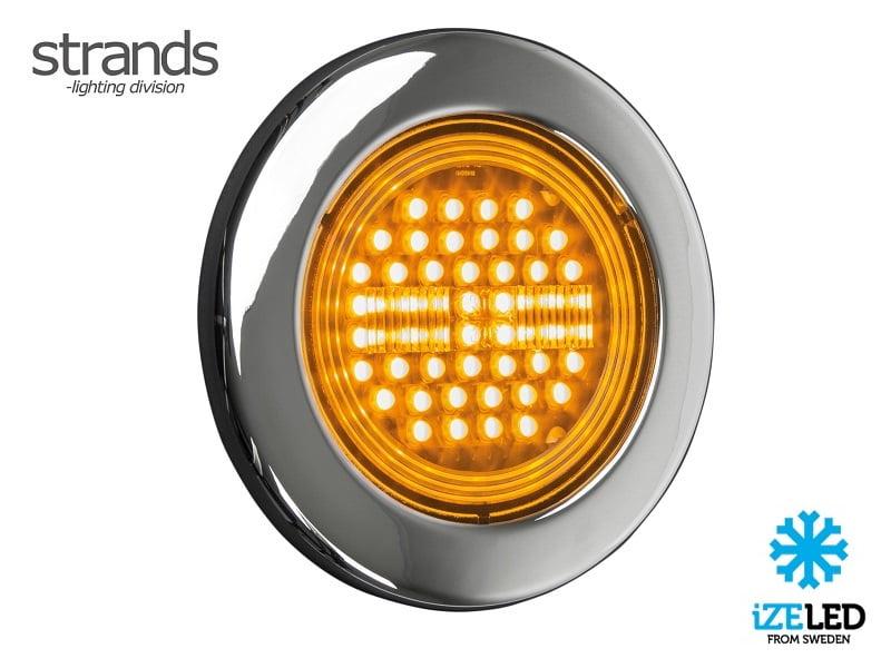 Strands IZE LED LED Blinklicht rund 12 - 24 Volt - Anhänger - LKW - Wohnmobil - Wohnwagen - LED Beleuchtung mit ECE-Qualitätszeichen