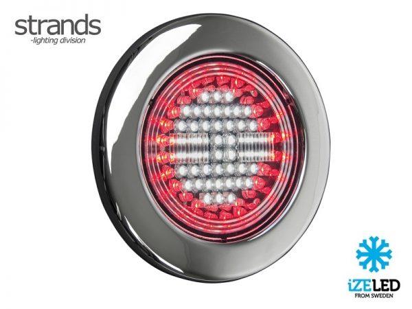Strands IZE LED LED achterlicht met mistlicht functie rond 12 - 24 volt - aanhanger - vrachtwagen - camper - caravan - LED verlichting met ECE keurmerk