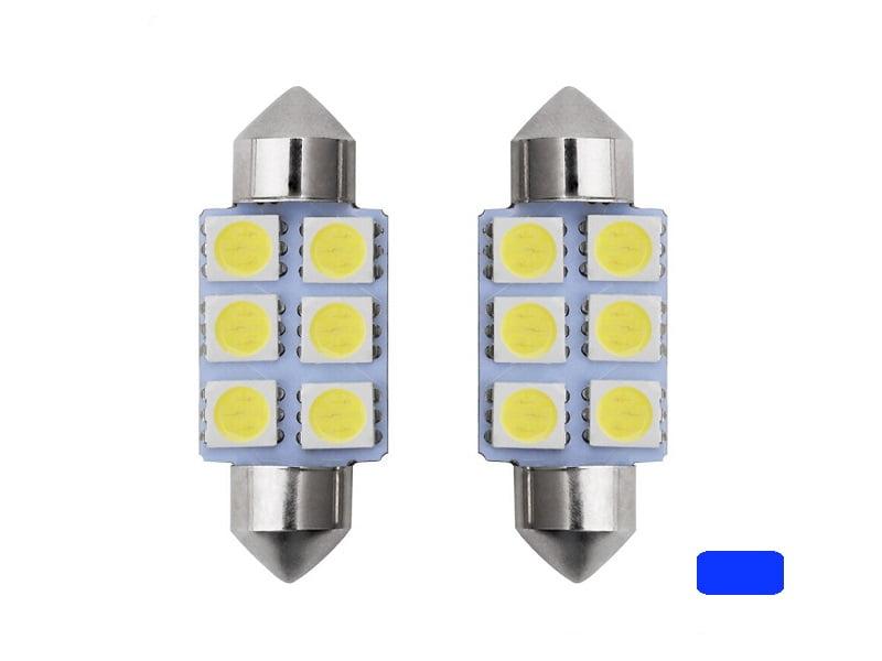 Festoon 6 LED tube lamp 41mm blue 24 Volt - truck - interior lighting