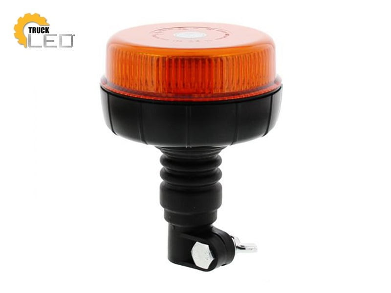LED rotating beacon with rod mounting flexible - LED rotating beacon 12 Volt, 24 Volt