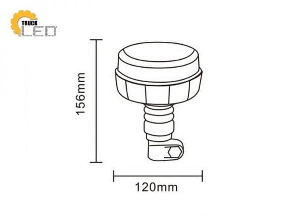 LED zwaailamp op montage steun
