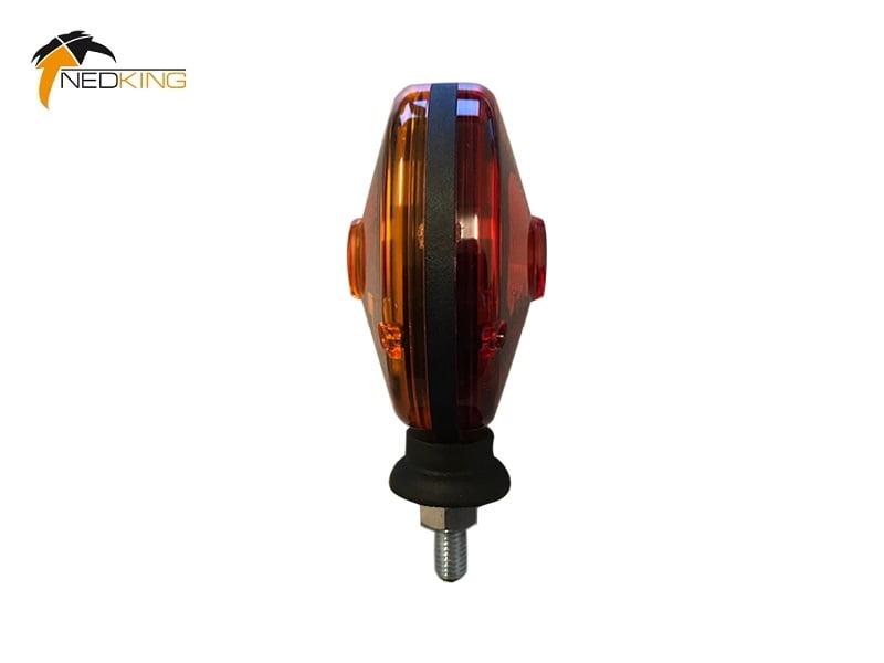 Nedking Spiegellampe orange - rot - Hella PABLO Version - Zusatzblinker - EAN: 6090431745728