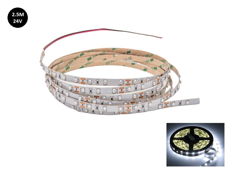 LED strip wit 6000k 24 Volt vrachtwagen 2.5 meter zonder silicone laag IP33 - EAN: 6090432044028