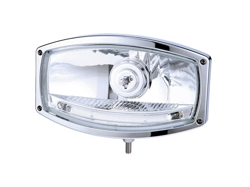 Nedking verstraler 1600 met chrome behuizing - incl. H1 grootlicht - geschikt voor 12 en 24 volt gebruik EAN: 7448156427457