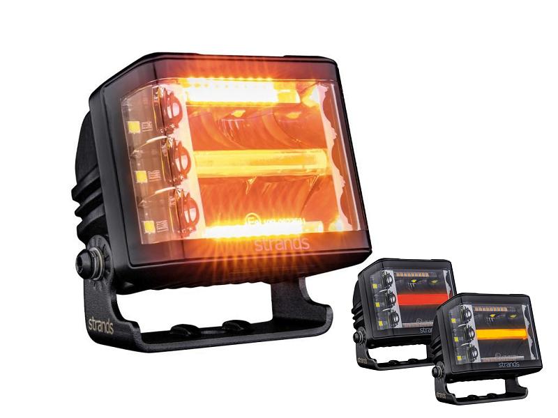 Strands Siberia RED Fox SIDE Shooter LED werklamp - werklamp met LED flitser - EAN: 7323030187569